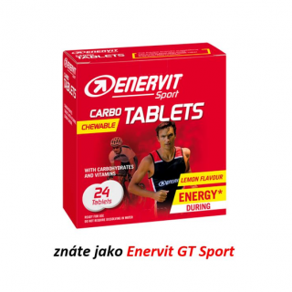 ENERVIT Carbo Tablets - 24 energetických tablet - citron